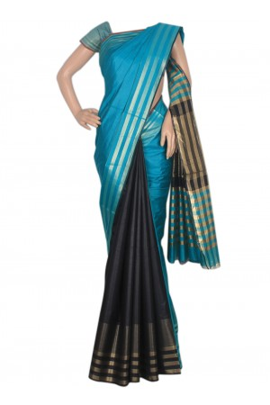 blue saree with zari border.jpg