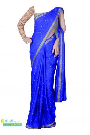 royal-blue-kota-silk-saree